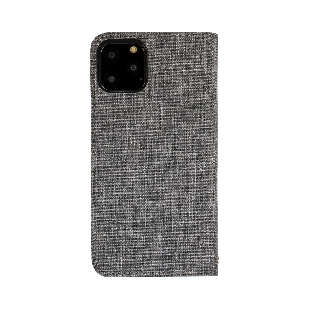 iPhone 11 Pro対応 ファブリック × PUレザー 手帳型ケース(OWL-CVIB5803)宅C