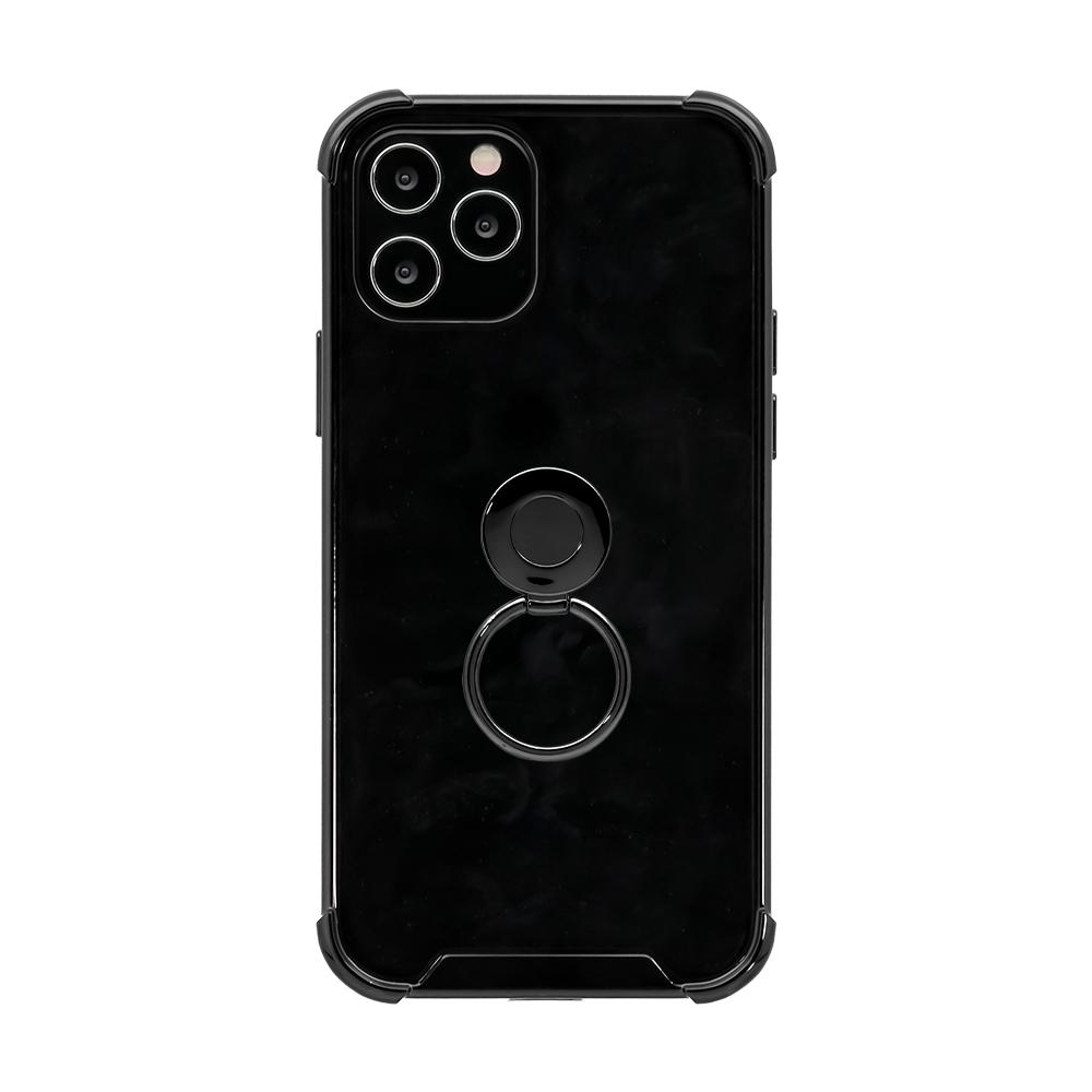 iPhone12/12Pro対応 (6.1インチ) 用 落下防止リング付き 耐衝撃ハイブリッドケース(OWL-CVIC6107) 宅C