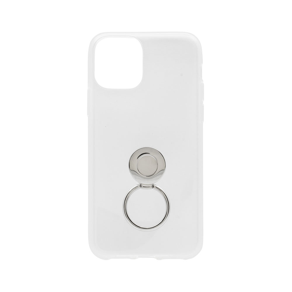 iPhone 11 Pro対応 落下防止リング付き TPUソフトカバーケース クリア(OWL-CVIB5805)宅C