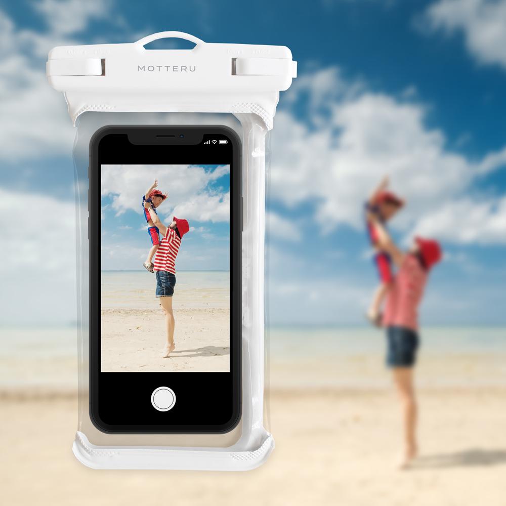 MOTTERU スマートフォン用 防水ケース IPX8 (MOT-WPC002)