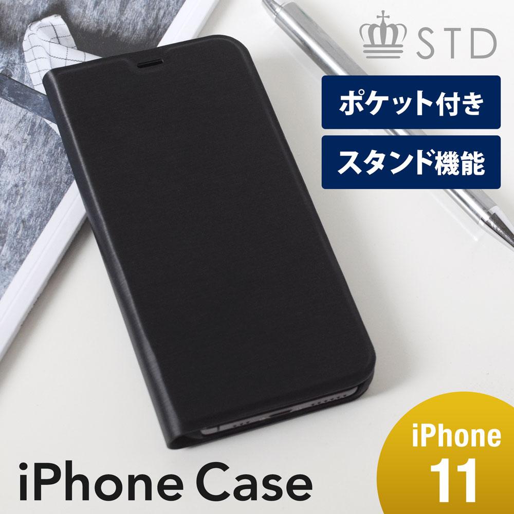 iPhone 11対応 ヘアラインデザイン 手帳型ケース(OWL-CVIB6102)宅C