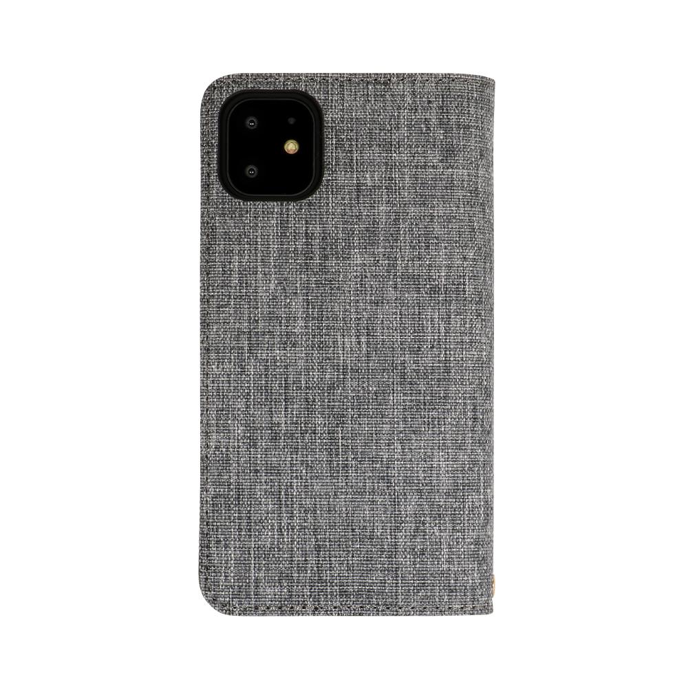 iPhone 11対応 ファブリック × PUレザー 手帳型ケース(OWL-CVIB6103)宅C