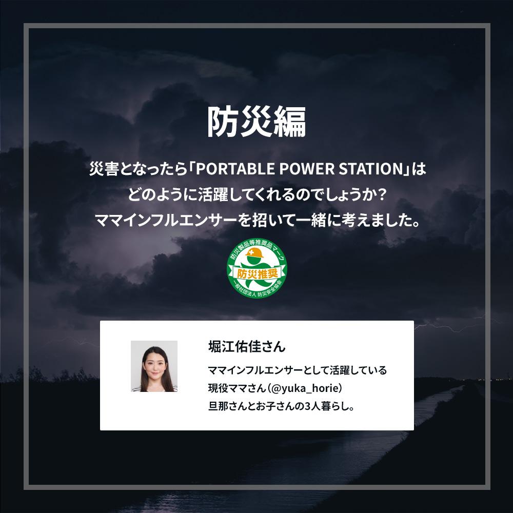 非常時やアウトドアで電源が使える ポータブル電源 403Wh 112000mAh (OWL-LPBL112001)
