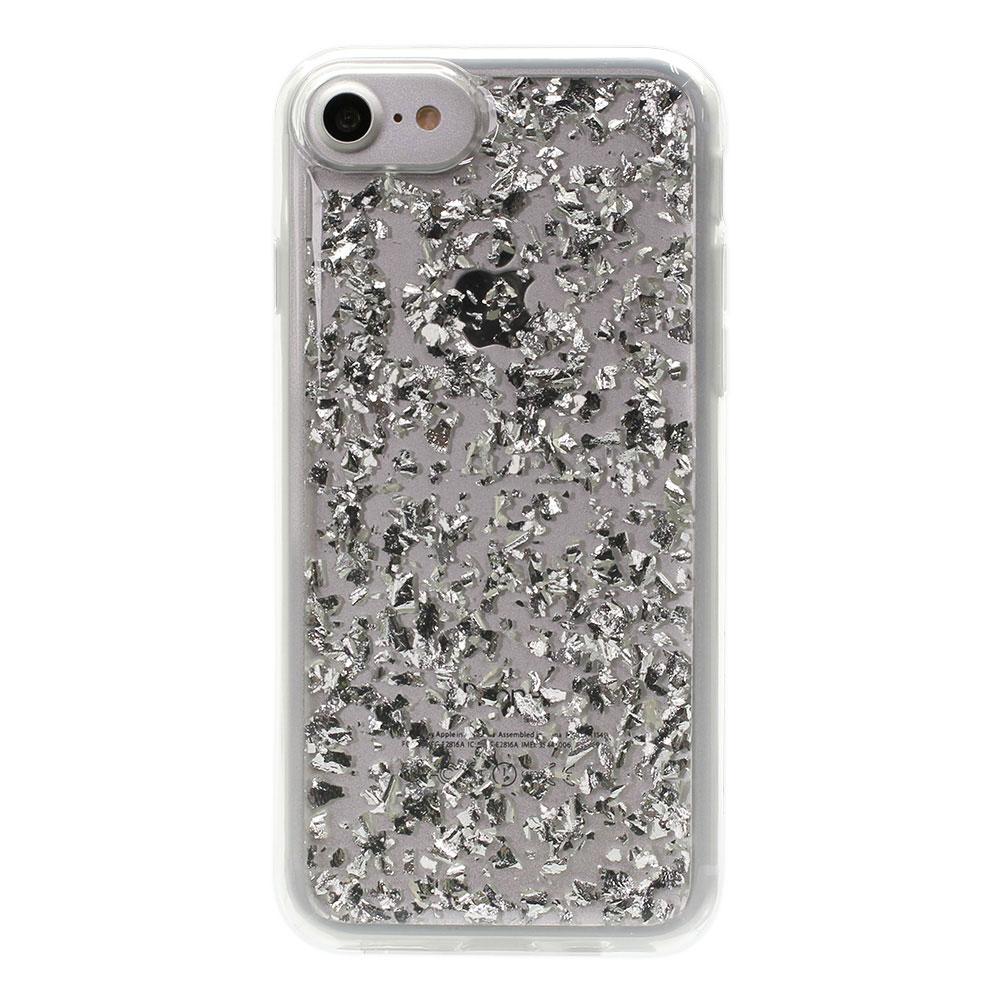 金箔を散りばめたようなキラキラ輝くグリッターデザイン ハイブリッドケース iPhone 8 / iPhone 7 / iPhone 6s / iPhone 6 対応(OWL-CVIP7S08)