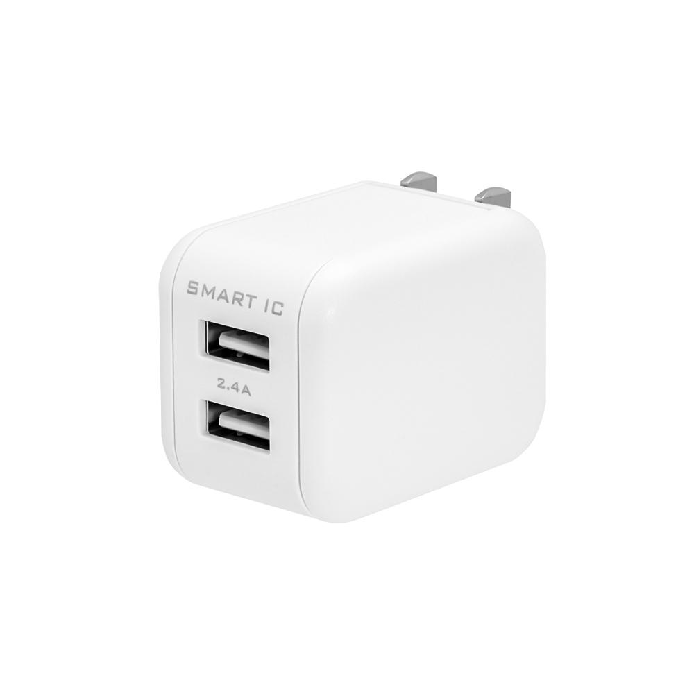 2ポートAC充電器 USB Type-Cケーブル(2m)付属(OWL-ACS24TCSR20)
