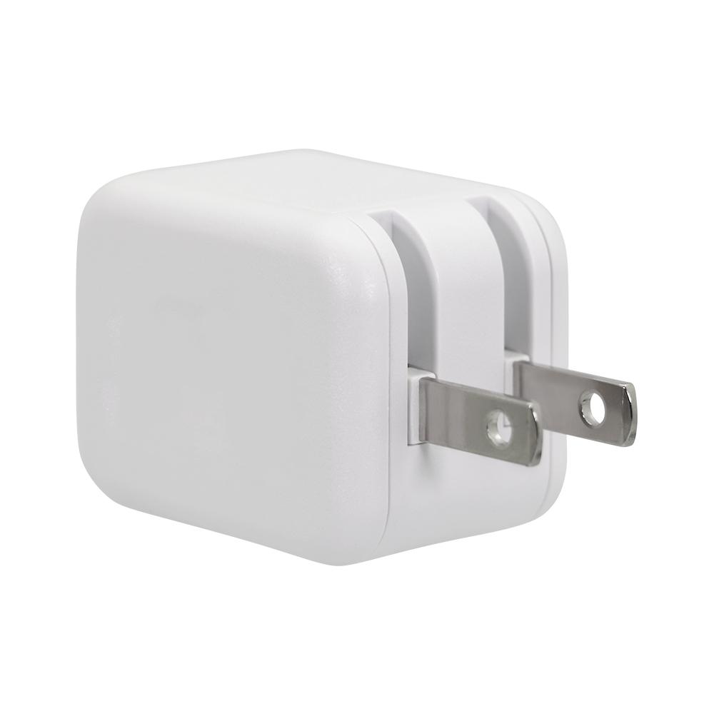 スマートIC搭載でかしこく充電 USB Type-A×2ポート 合計2.4A出力 12W USB AC充電器(OWL-ACU2F24S2)