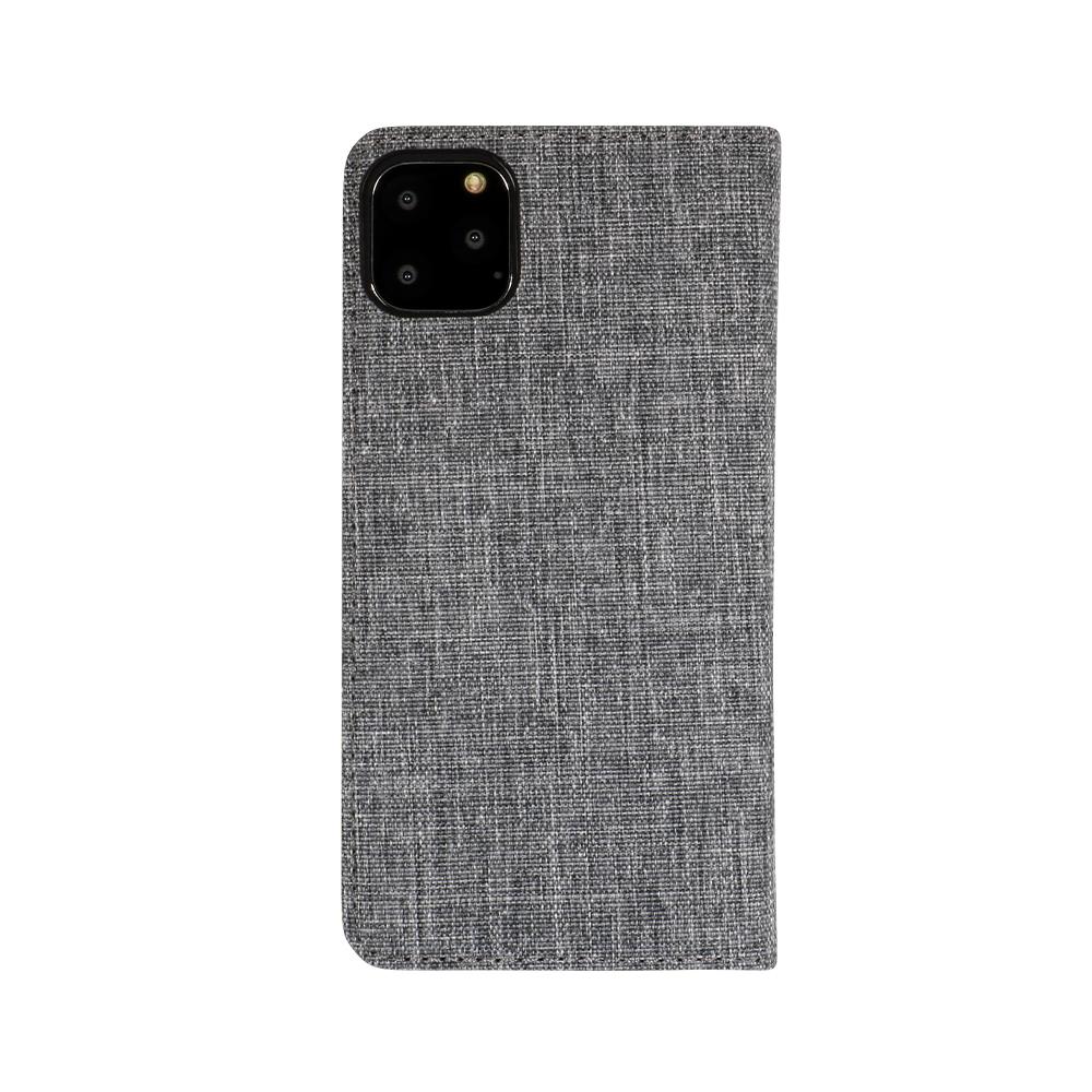 iPhone 11 Pro Max対応 ファブリック × PUレザー 手帳型ケース(OWL-CVIB6503)宅C