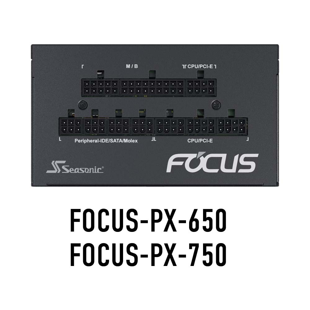 Seasonic 80PLUS Platinum認証取得 ATX電源 FOCUS 650W(FOCUS-PX-650)