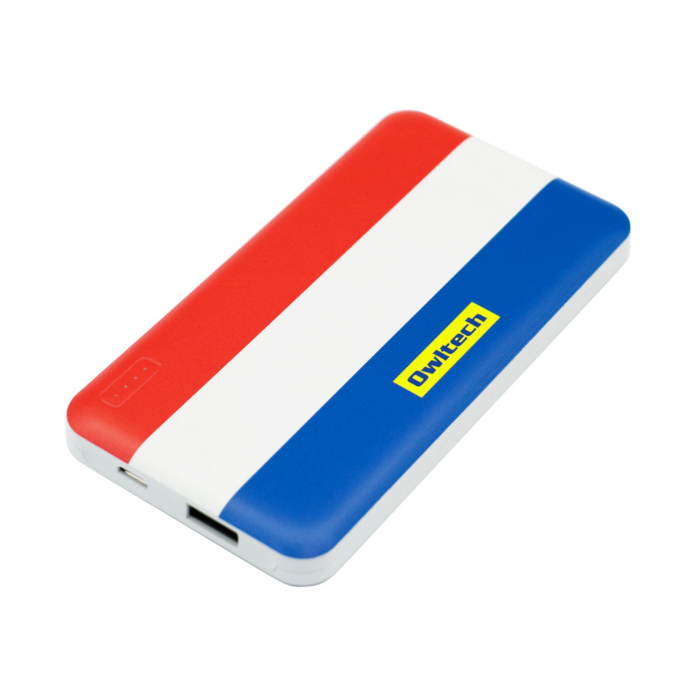 トリコロールデザイン モバイルバッテリー 5,000mAh SmartIC搭載 PSE適合商品(OPR-10013001)