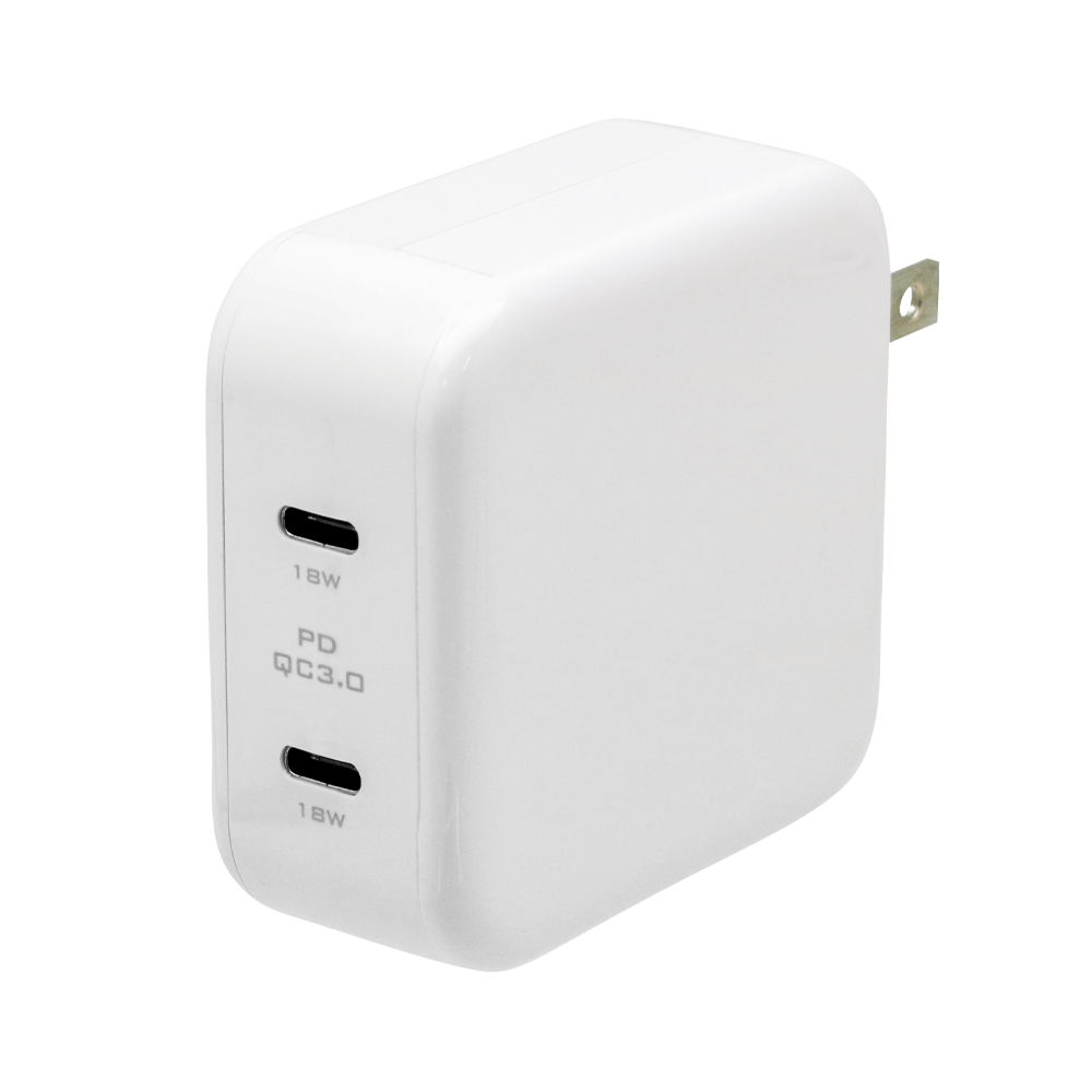 USB Type-C 2ポート搭載USB充電器 Power Delivery/Quick Charge 3.0対応(AO-ACTC2PD)