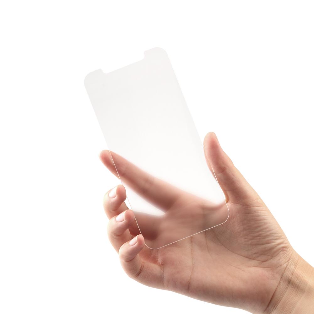 iPhone 12 mini用 貼り付けキット付き 画面保護 抗菌強化ガラス 抗菌+マット(OWL-ZGSIC54-AGAN) 宅C