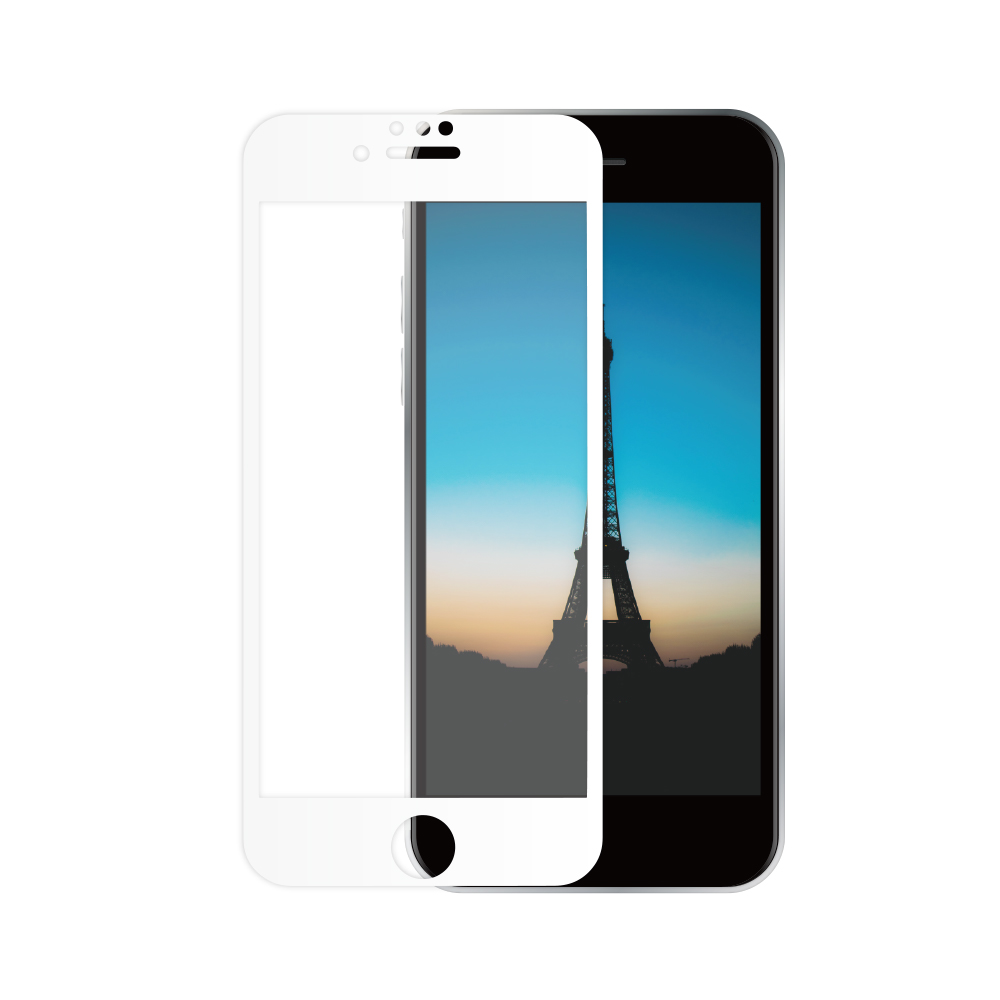 耐衝撃 全面保護 強化ガラス iPhone SE (第2世代)/8/7/6s/6対応 マットタイプ(OWL-GUIC47F-AG)