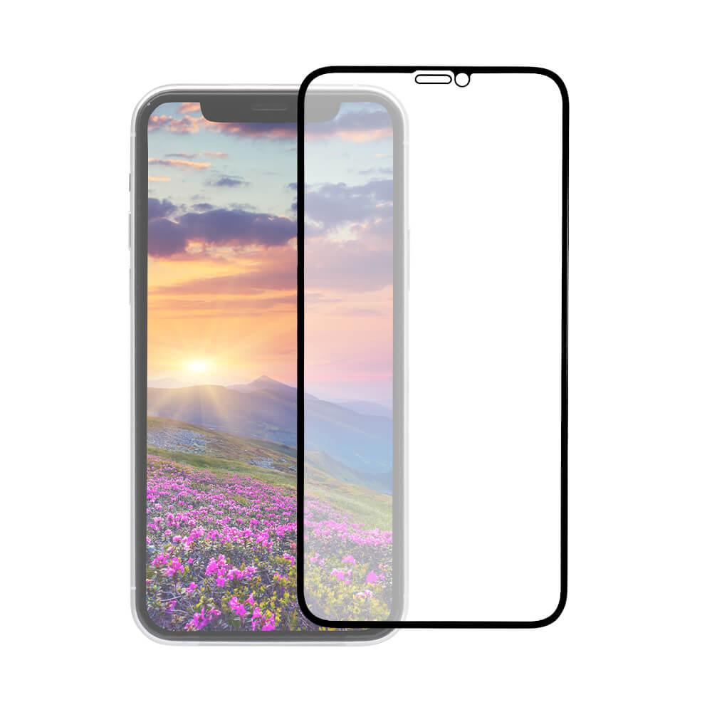 iPhone 11 /XR対応 トリプルストロング耐衝撃ガラス 全面保護 アンチグレア ブラック(OWL-GUIB61F-BAG)宅C
