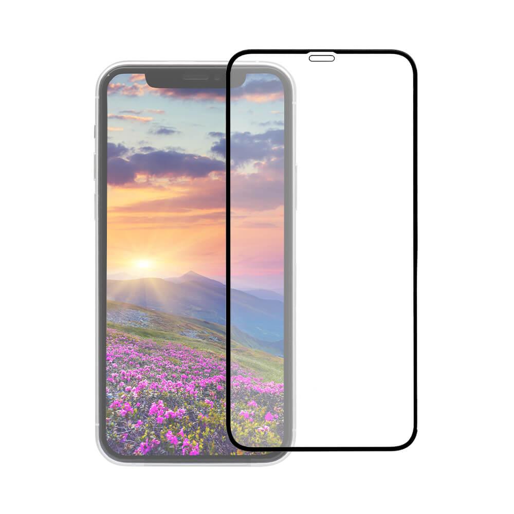 iPhone 11 Pro/Xs/X対応 トリプルストロング耐衝撃ガラス 貼りミスゼロのかんたん貼り付けキット付き 全面保護 クリア ブラック(OWL-GUIB58F-BCL)宅C