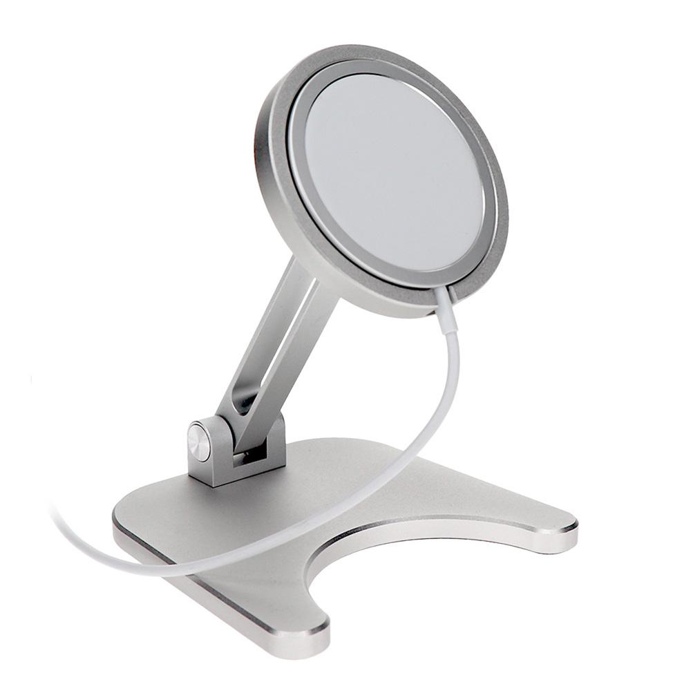 MagSafe専用 角度調整可能 折り畳みアルミスタンド(OWL-MSSTD01)