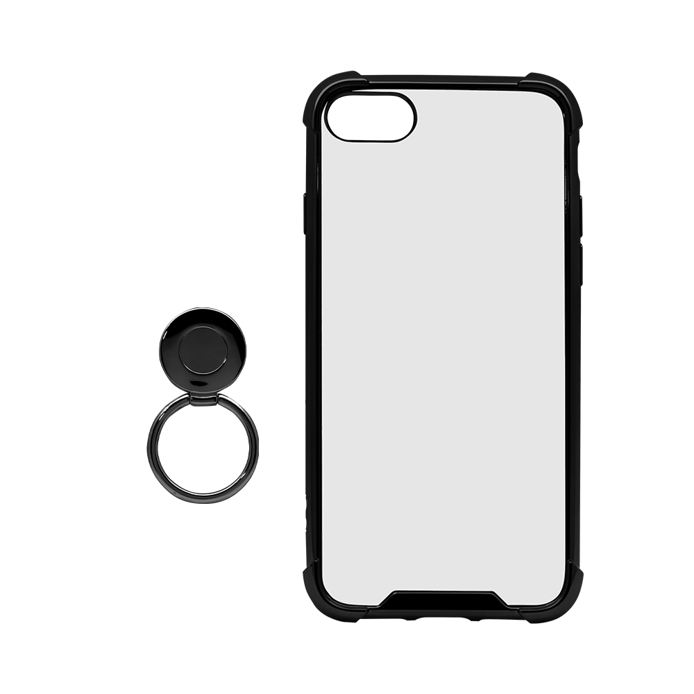 柔らかい素材とハードケースでしっかりと端末を保護する 耐衝撃ハイブリッドケース iPhoneSE(第2世代)/8/7対応(OWL-CVIC4707)