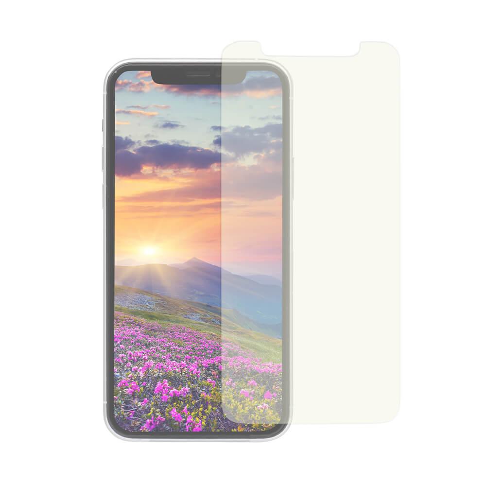 iPhone 11 Pro/Xs/X対応 トリプルストロング耐衝撃ガラス 貼りミスゼロのかんたん貼り付けキット付き クリアブルーライトカット(OWL-GUIB58-BC)宅C