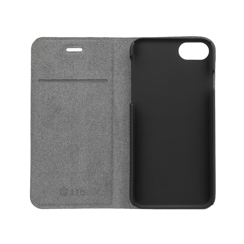 落着きと高級感のあるカーボンデザイン PUレザー 手帳型ケース iPhoneSE(第2世代)/8/7/6s対応(OWL-CVIC4715)
