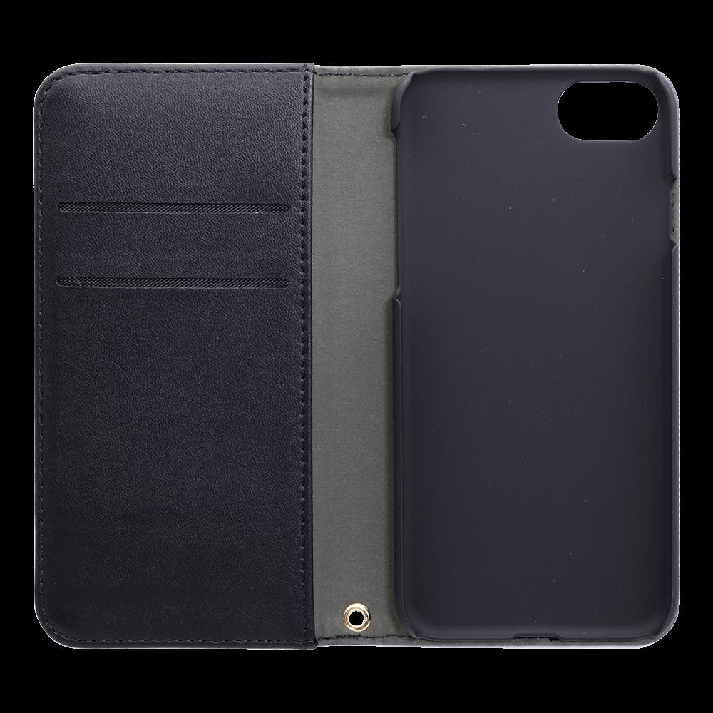 ファブリック素材とPUレザーを合わせたデザイン THE 手帳型ケース iPhone8/7/6s/6対応(OWL-CVIP7S03)宅C