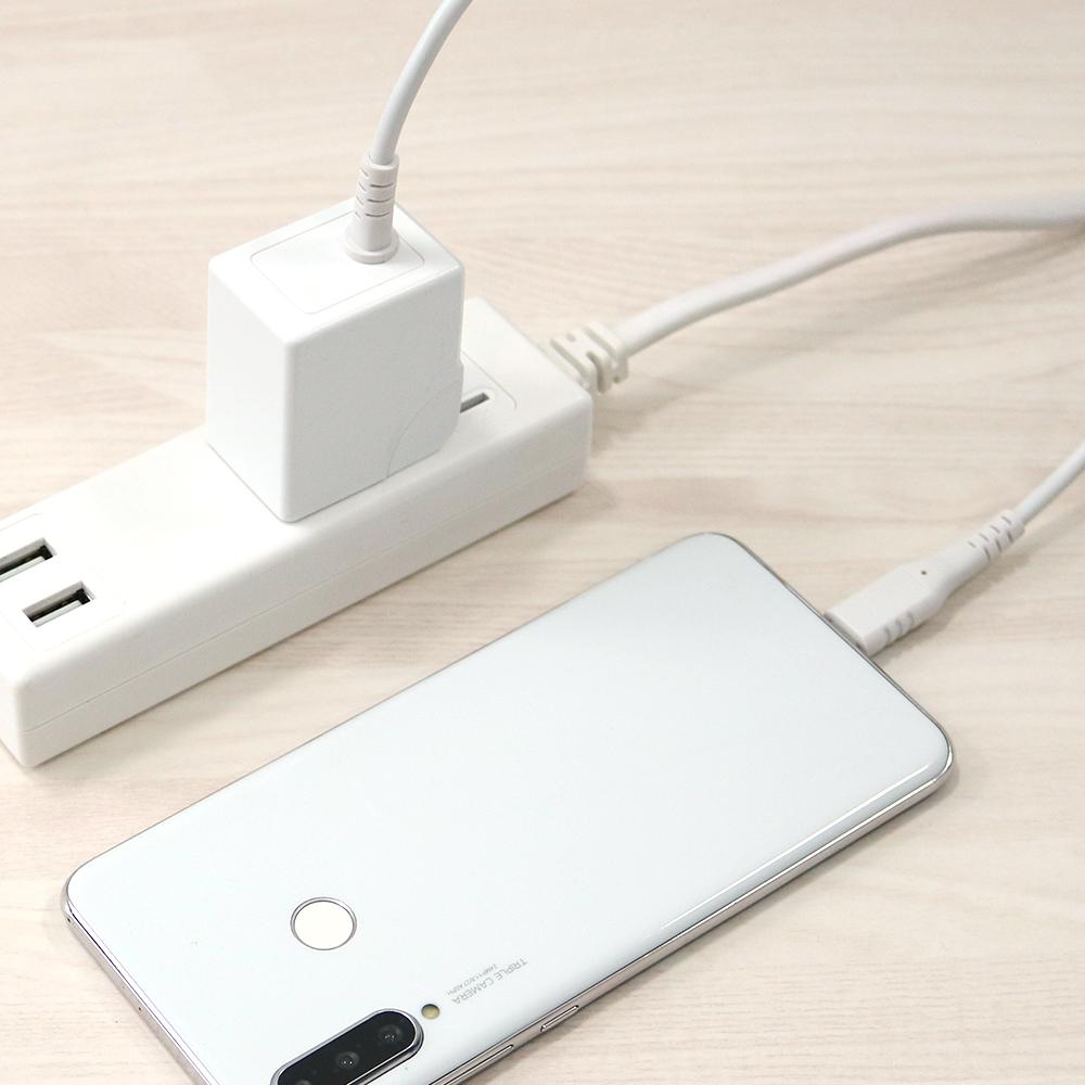 USB PD18W USB Type-Cケーブル 一体型AC充電器(OWL-ACJPD18C15)宅C