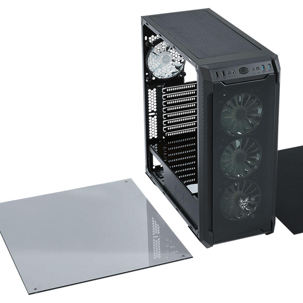 PCケース FSP RGB LEDファン搭載 ミドルタワー(CMT520)