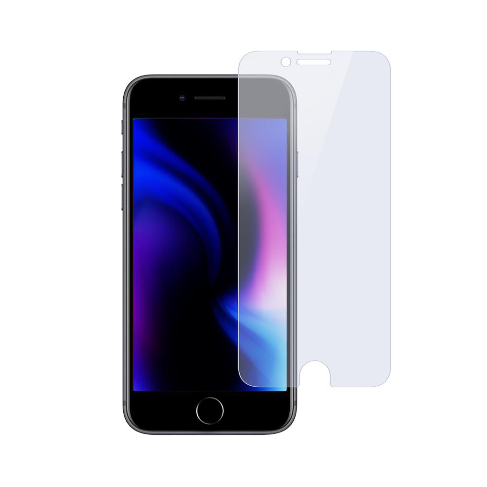 画面保護 強化ガラス  日本メーカー製造 iPhoneSE(第2世代)/8/7/6s対応 光沢・ブルーライトカットタイプ(OWL-GSIC47-BC)