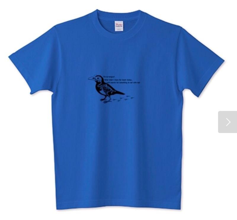 Tシャツ 「ほねほねカラス君」