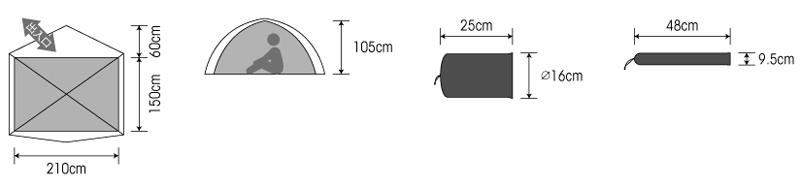 PUROMONTE(プロモンテ) 超軽量アルパインテント VL-37 【グランドシートセット】