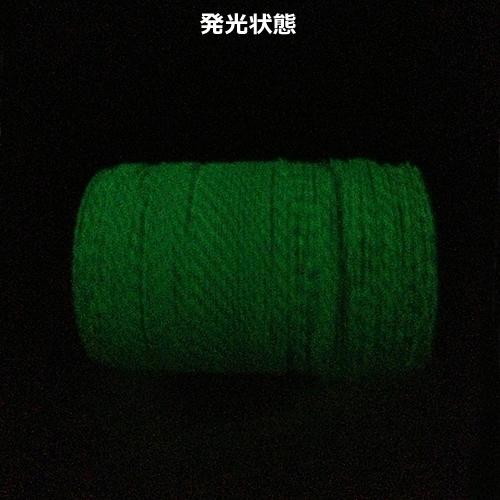 oxtos(オクトス) 蓄光ロープ2mm【メーター売り】【メール便発送可能】