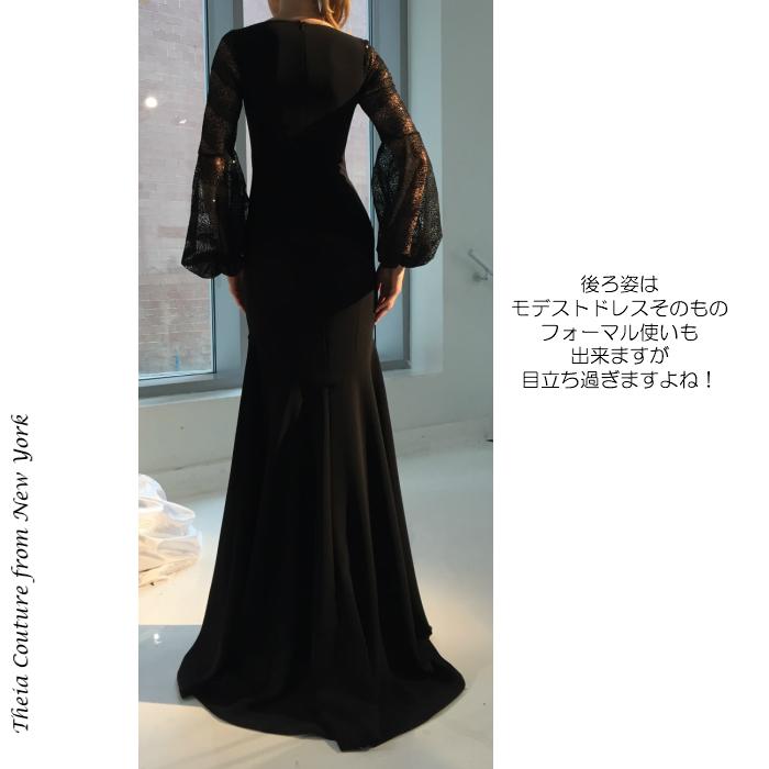 ドレス インポートドレス 声楽 ピアノ 0422 演奏会ドレス 発表会ドレス マザーズドレス ブラック ミセス シャンソン イブニングドレス ステージドレス パーティドレス 楽器演奏