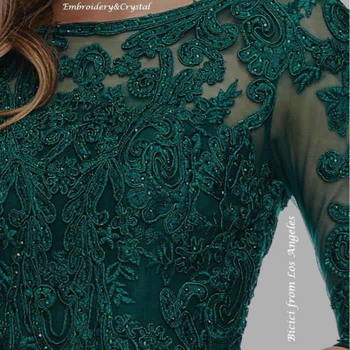 ドレス インポートドレス シャンソン ジャズ 声楽 ピアノ グリーン 七分袖 演奏会ドレス エンパイアドレス 大きなサイズ 21号 23号 マザーズドレス ミセス イブニングドレス ステージドレス 楽器演奏