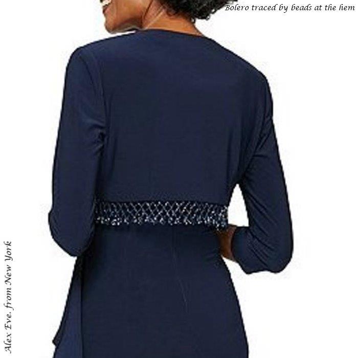 ドレス インポートドレス 声楽 ピアノ 演奏会ドレス 発表会ドレス ボレロ付き 長袖ドレス ネイビー 袖付き ソフトジャージー マザーズドレス ミセス イブニングドレス ステージドレス パーティドレス 楽器演奏