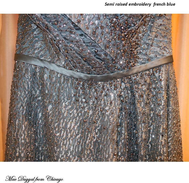 インポートドレス 声楽 ピアノ オフショルダー ラグジュアリードレス 演奏会用ドレス メタリック エンブロイダリーレース 刺繍 ブルー ラインストーン 発表会ドレス Aラインドレス ステージドレス パーティドレス 楽器演奏