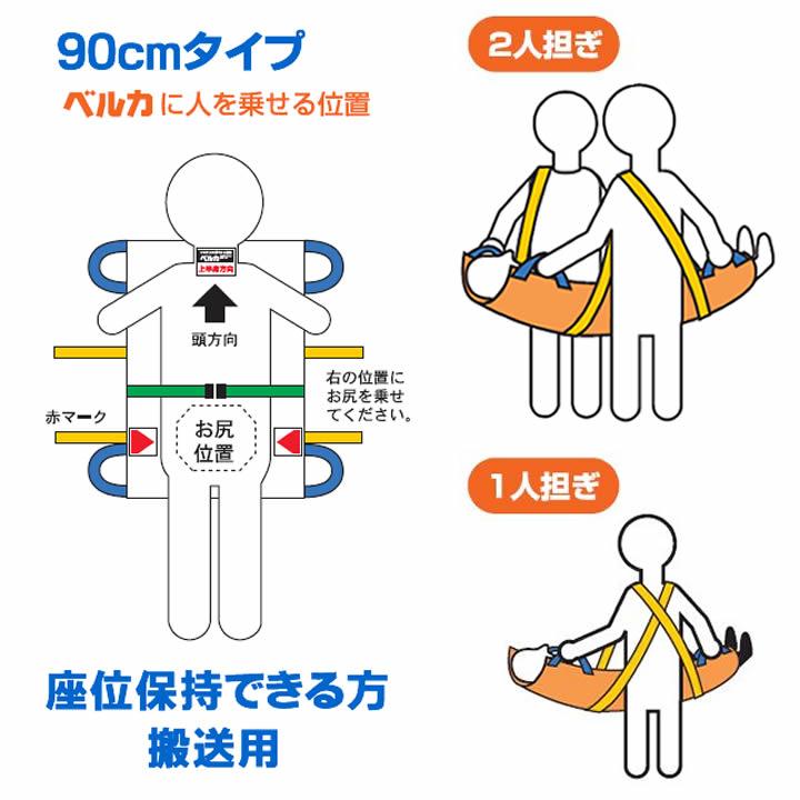 ベルカKB-90 介護用布担架(座位保持用)