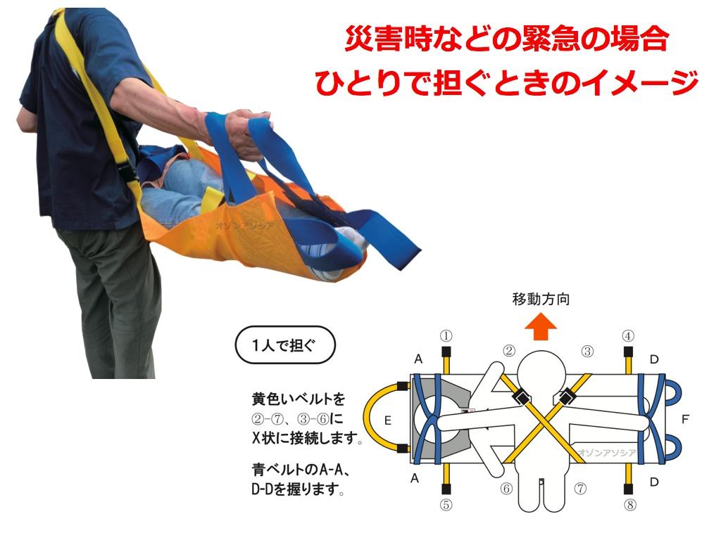ベルカDSB-6 多人数対応型 救護・災害用布担架
