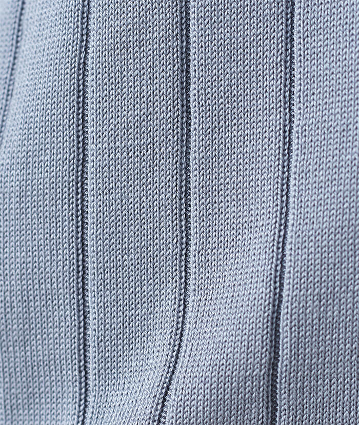 Wide Rib Silk Cardigan