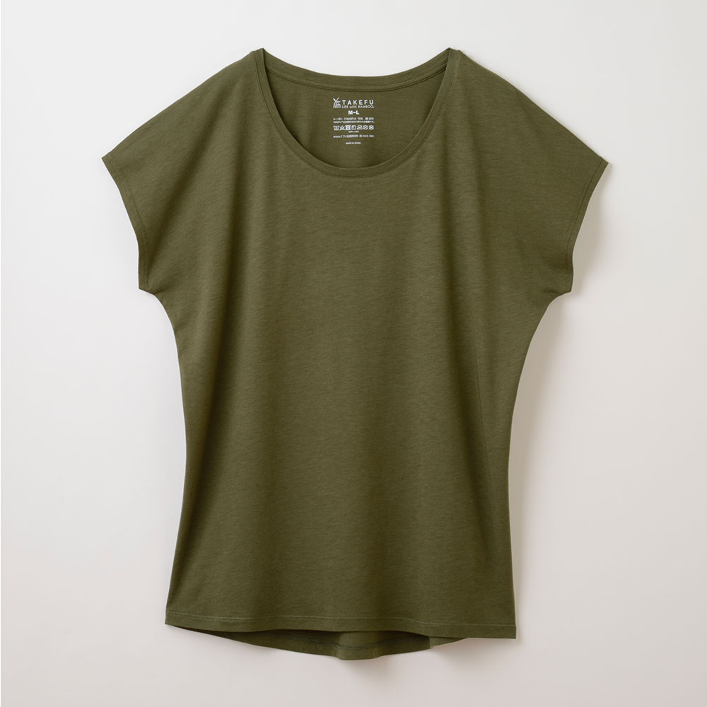 TAKEFU 竹布 竹のフレンチスリーブTシャツ(レディース)