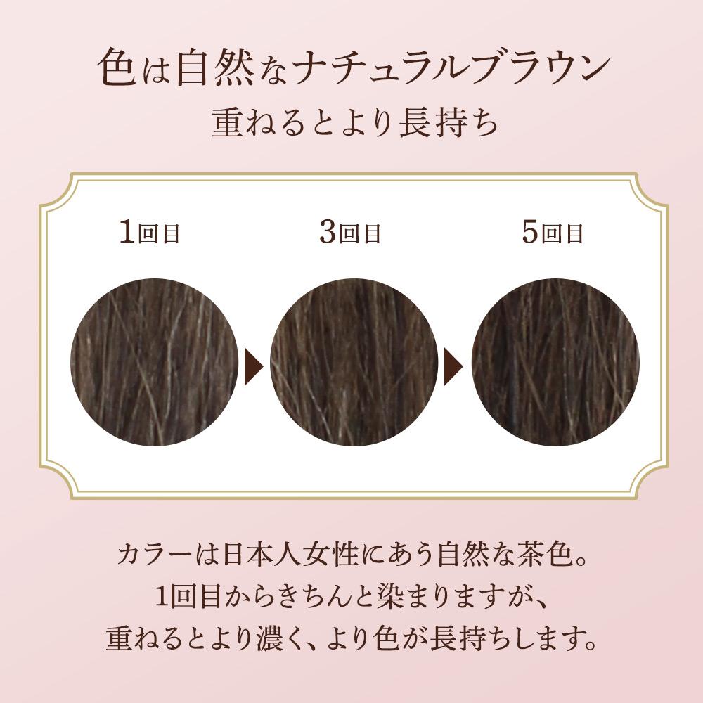 髪萌 カラーアップ ナチュラルブラウン ヘアカラートリートメント 白髪染め