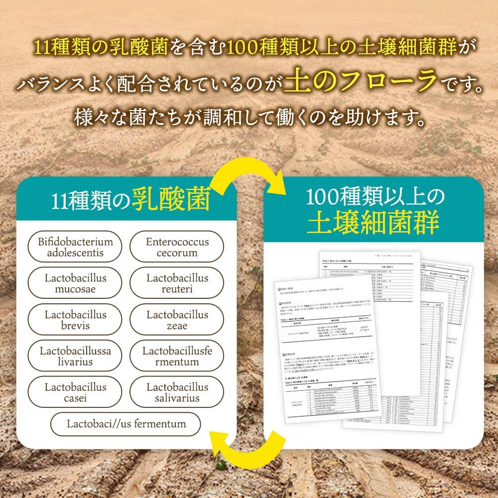 [ネコポス代込]11種の乳酸菌×100種の土壌細菌群 土壌菌サプリメント 土のフローラ