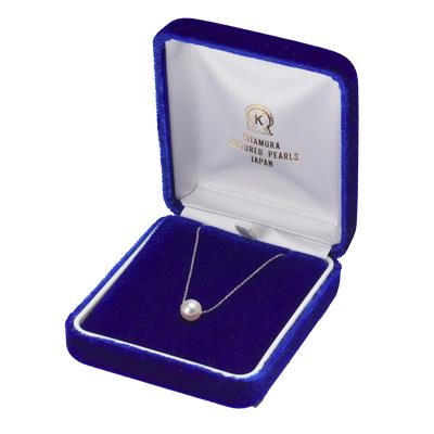 無調色花珠真珠ネックレス(ペンダントタイプ/貫通タイプ)