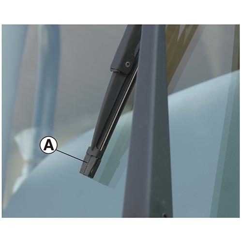 替ゴム ワイパーブレード用 グラファイトコーティング スチールプレート付 巾6mm 長さ500mm 10本1セット
