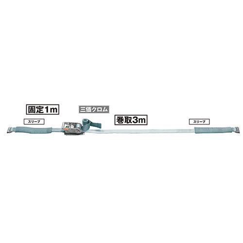 ベルト荷締機 JIS Eクリップ(巾50mm 固定1m 巻取3m) 旧品番 6474310000 RF523E