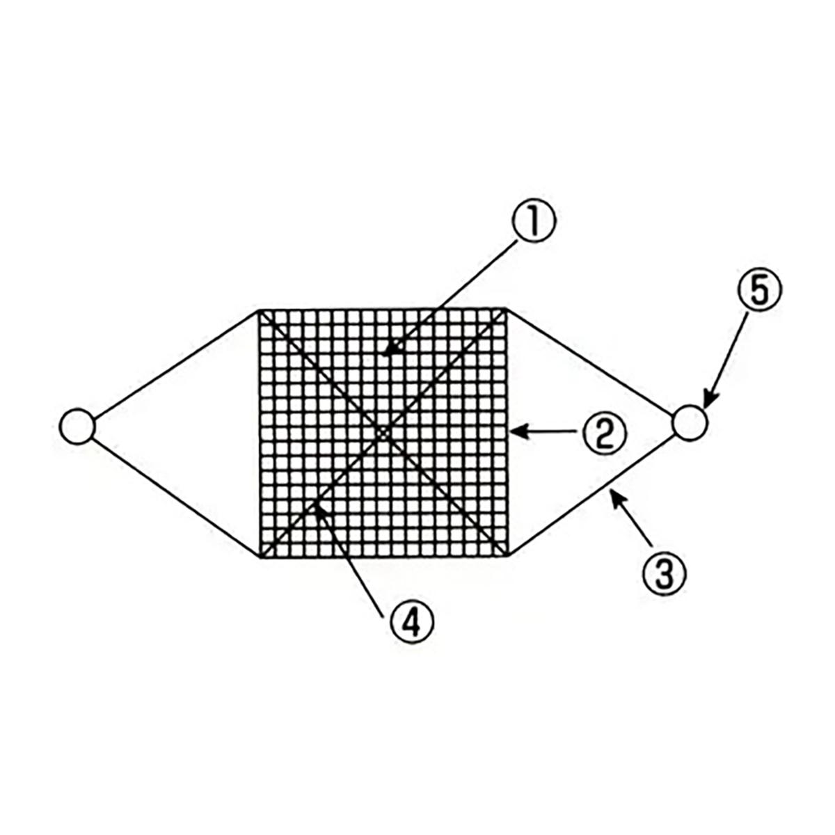 ワイヤーモッコ シート付 1.5m角  網目サイズ120mm