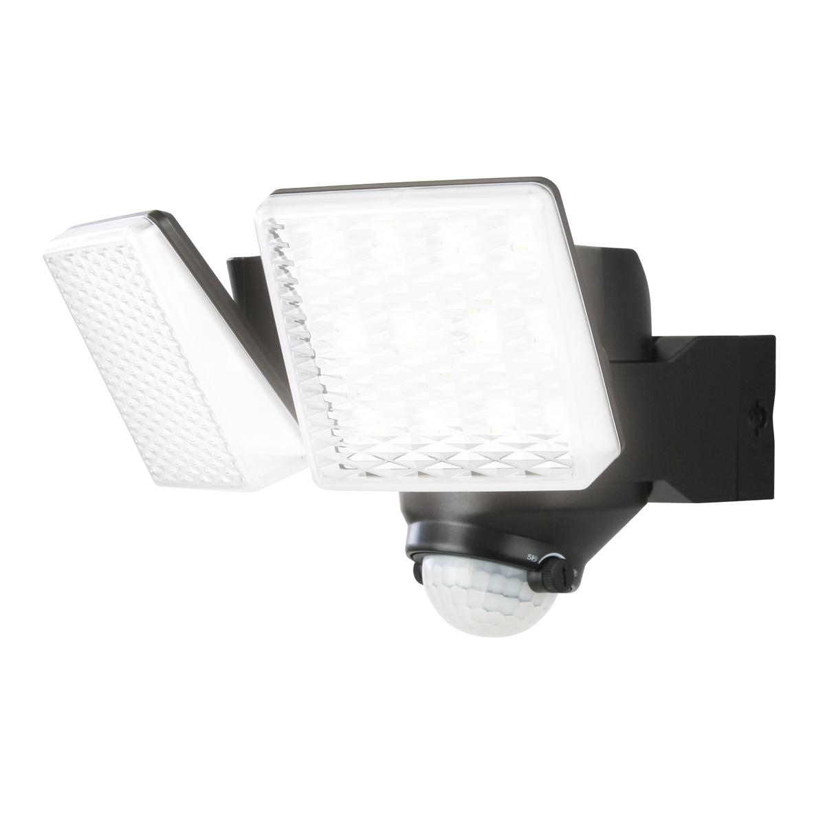 ソーラー充電式センサーライト 2灯