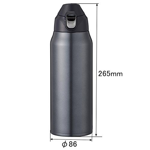 保冷専用ポータブルボトル ブラック 1.5L