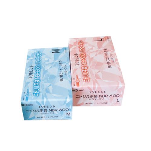 ニトリル・ゴム手袋 粉なし 白色 100枚入 食品衛生法適合品 Lサイズ