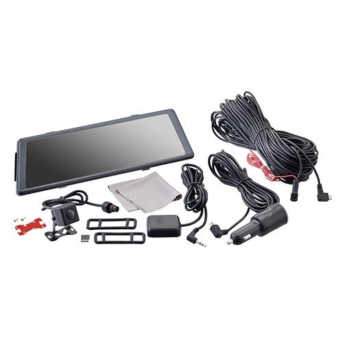 ルームミラー一体型ドライブレコーダー リアカメラセット