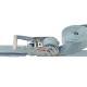 ベルト荷締機 オーバルリングフック(巾50mm 固定1m 巻取7m)
