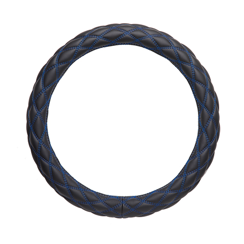 極太 ハンドルカバ− マットブラック/ブル− (S)