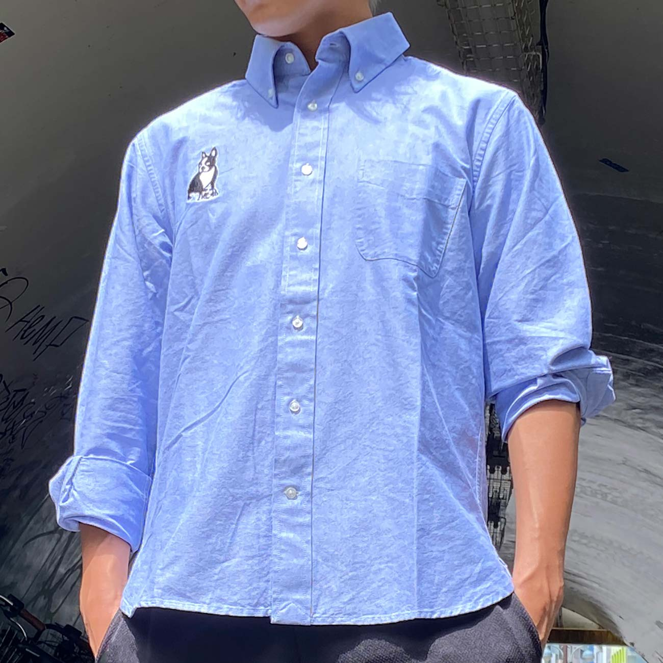 BRAND for whomシャツオックスフォードシャツ(ブルー)
